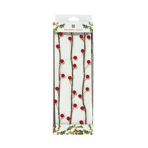 Talking Tables - Botanical Christmas - Red Berry Branch with White LED Light 2m