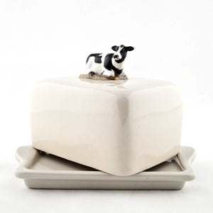 Quail - Lying Down Cow Butter Dish