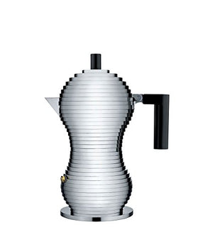 Alessi - Pulcina Espresso Coffee Maker 3 Cup Coffee Maker - Black Handle