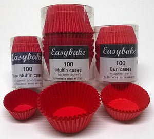 NJ Products - Red Brights Mini Muffin Cases