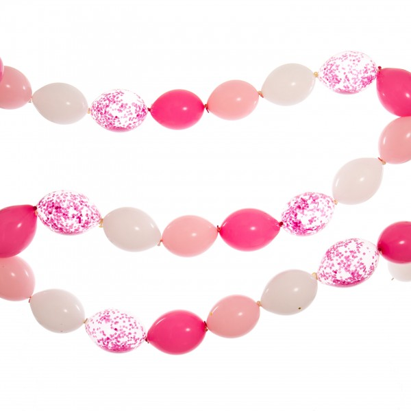 Bubblegum Balloons - Linking Balloon Garland - Baby Pink and White