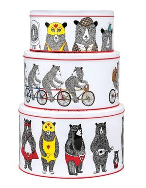Jimbob Art - Bears Set of 3 Round Cake tins