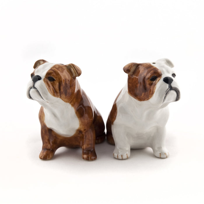 Quail - English Bulldog Salt & Pepper Set