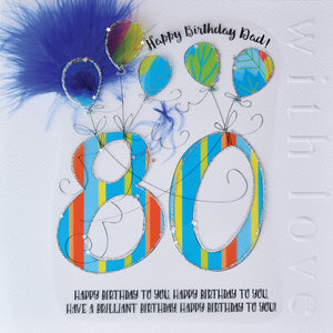 Cloud Nine Dad 80 Card Blue