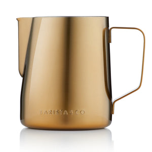 Barista & Co - 600ml Milk Jug - Gold