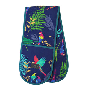 Sara Miller - Double Oven Gloves - Parrot