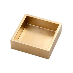 CASPARI NAPKIN HOLDER COCKTAIL SIZE GOLD LACQUER