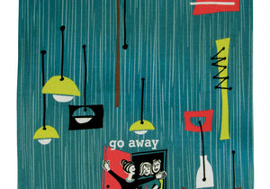 Incognito - Go Away Tea Towel