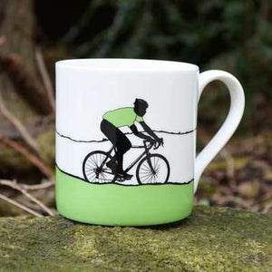 Jacky - Green Jersey Bone China Mug