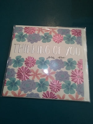 Thinking of you card. Purple