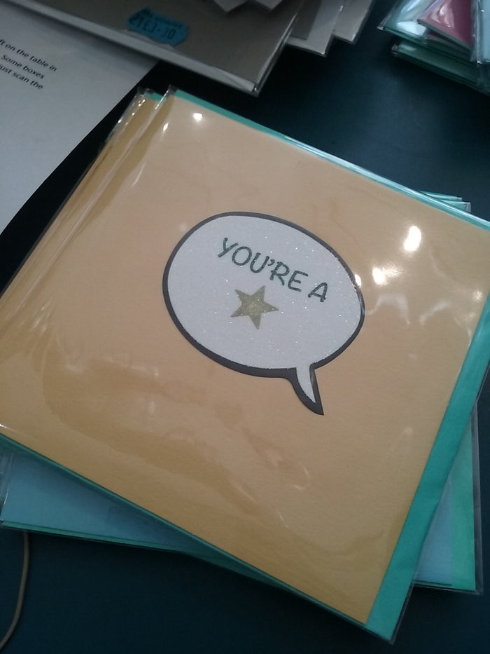 You're a star card