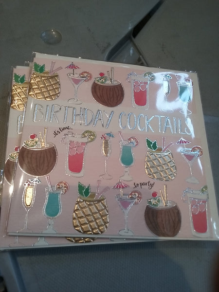 Birthday cocktails