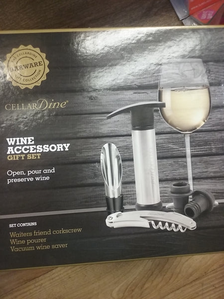 Cellar dine, wine accessory gift set