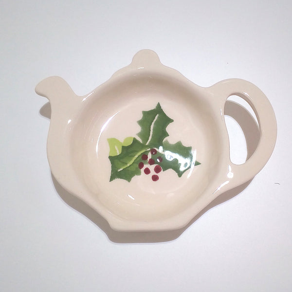 Peregrine Pottery - Holly & Ivy Teabag Tidy