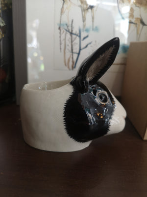 Quail - Rabbit Face Egg Cup Black/White