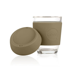 Joco - 12oz Glass Coffee Cup - Olive