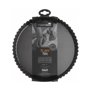 MasterClass - Non-Stick 23cm Loose Base Fluted Quiche Tin
