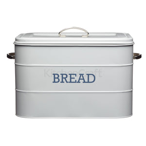 Living Nostalgia Bread Bin 34 x 21 x 25cm Steel Grey