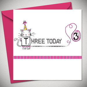 AMELIES ZOODLES PINK THREE CARD