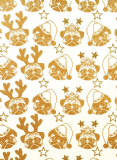 VIVID WRAPPING PAPER LOOSE SHEET - GOLD PUGS