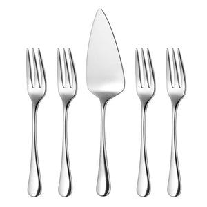 Robert Welch - Pastry Forks & Pie Server Set of 5