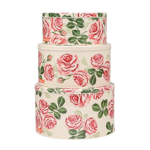 Emma Bridgewater - Set of 3 Round Cake Storage Tins - Pink Roses