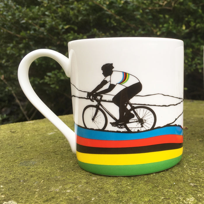 Jacky - Rainbow Jersey Bone China Mug