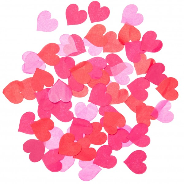 Bubblegum Balloons - Ruby Red Heart Confetti