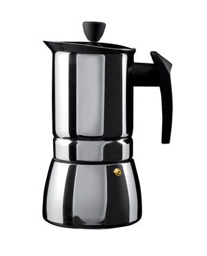 Cafe Ole - 4 Cup S/S Espresso Maker - Induction