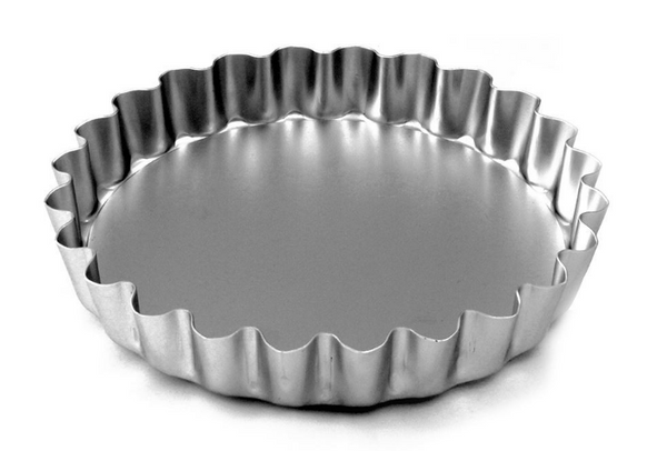 Alan SilverWood - 7in Loose Base Fluted Flan Tin