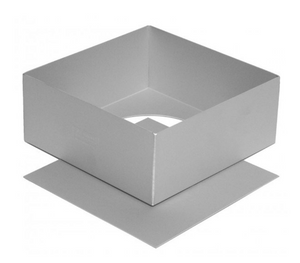 Alan SilverWood - 14 x 4in Square Cake Pan, Loose Base