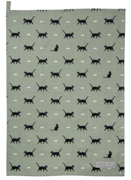 Sophie Allport - Black Cat Tea Towel