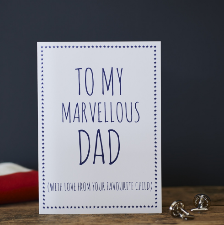 Greetings Card - Marvellous Dad