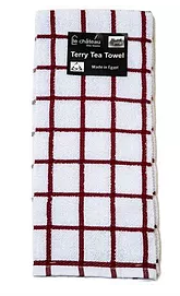 Tea Towel - Red Check