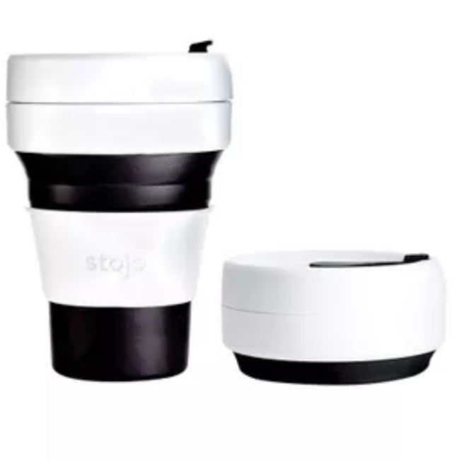 Stojo - 12 oz Collapsible Pocket Cup - Black