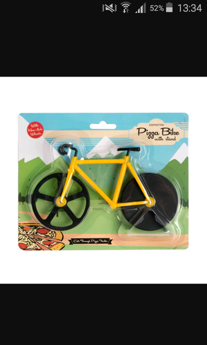 Bike pizza cutter- yellow