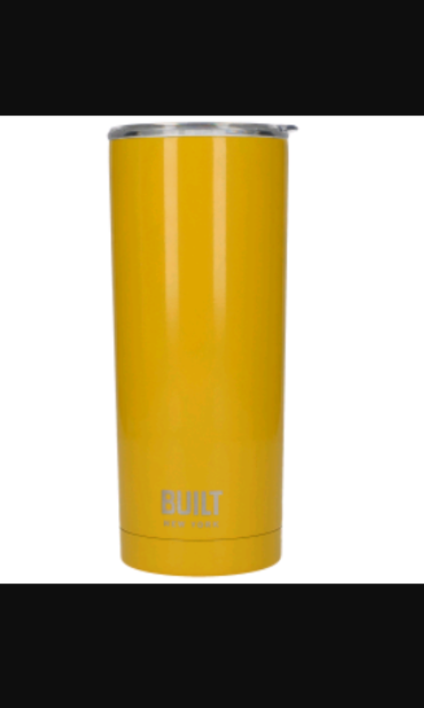 Built 20 Oz double wall stainless steel, yellow