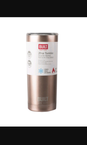 Built 20 Oz wall stainless steel, rose gold