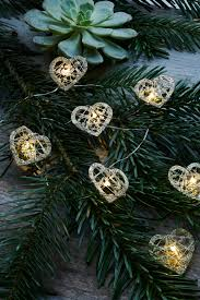 Sirius - Edith Heart Tree Lights - Gold/Glitter