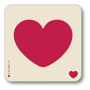 Bluebell 33 - Red Heart Coaster
