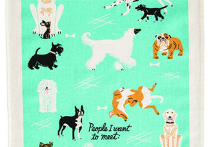 Incognito People to Meet - Dogs Tea Towel