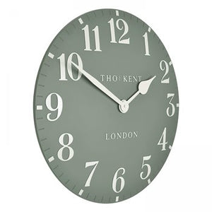 "Thomas Kent - 20""Arabic Wall Clock - Seagrass"