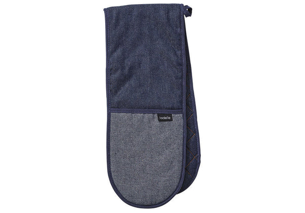 Double Oven Glove - Blue Denim