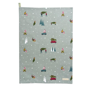 Sophie Allport - Home for Christmas Tea Towel