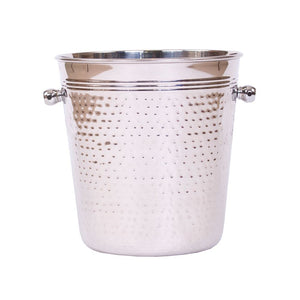 Elegant Champagne Bucket Hammered Steel