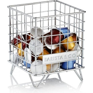 Barista & Co - Pod Coffee Capsule/Accessory Cage - Electric Steel