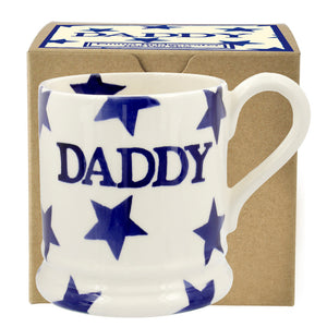 Emma Bridgewater - Blue Star Daddy Half Pint Mug