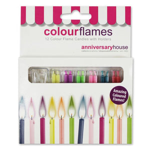 Anniversary House - Colour Flame Candles