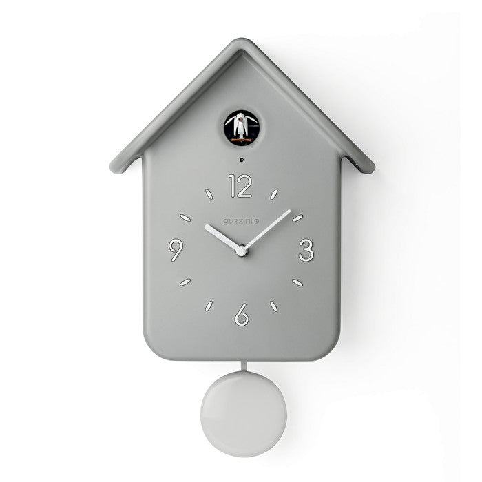 Guzzini Cuckoo Clock with Pendulum - Light Grey