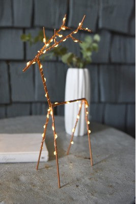 Lightstyle - Large Copper Deer with Lights